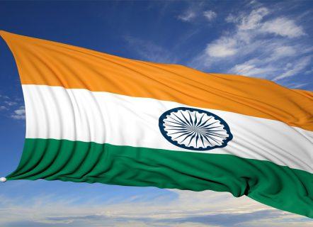 Wehende Flagge Indien