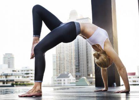 Woman Yoga Practice Pose India