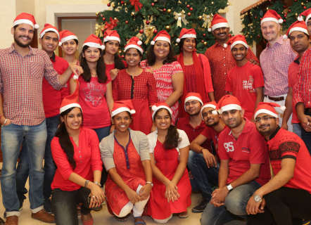IT Entwicklungszentrum Indien Team Christmas 2015